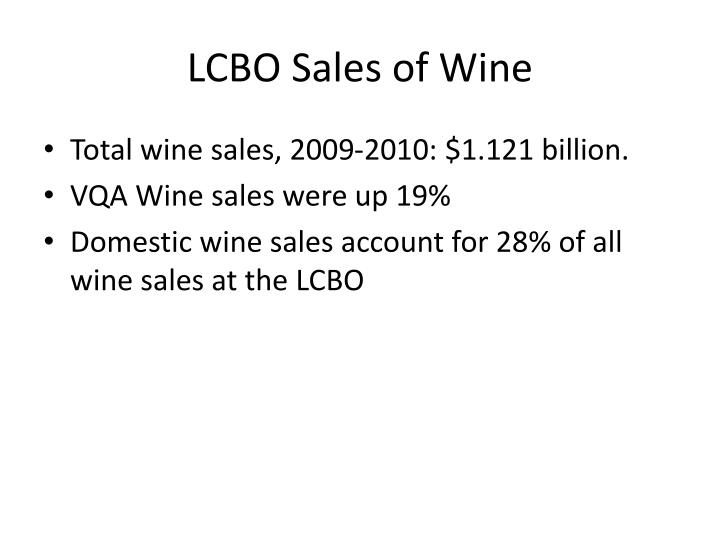 LCBO Sales of Wine