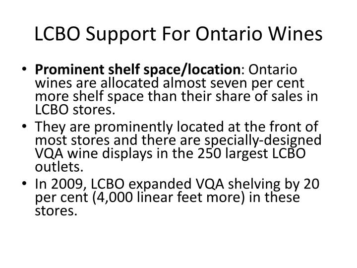 LCBO Support For Ontario Wines