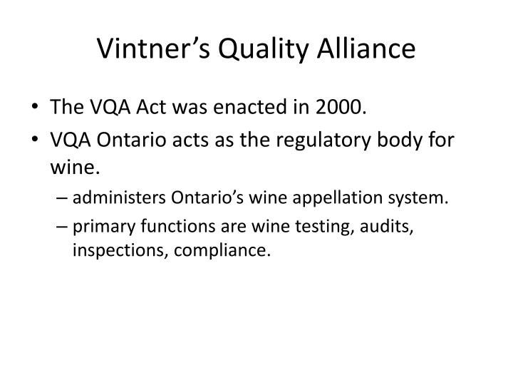 Vintner's Quality Alliance