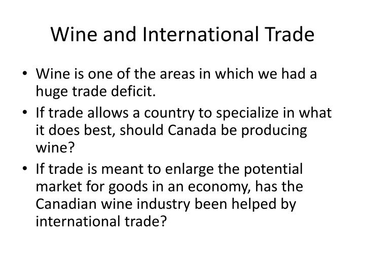 Wine and International Trade