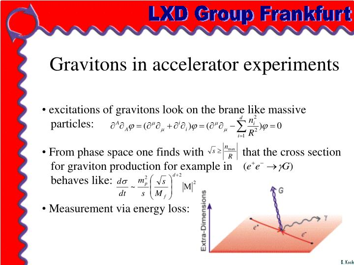 Gravitons in accelerator experiments