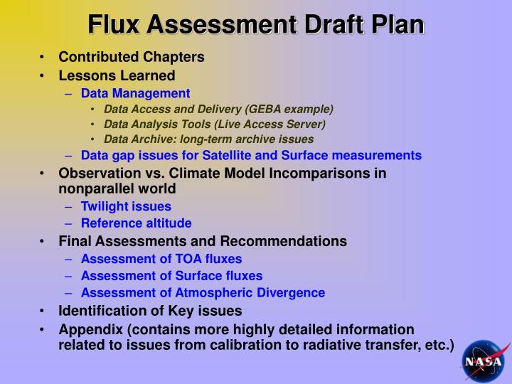 Flux Assessment Draft Plan