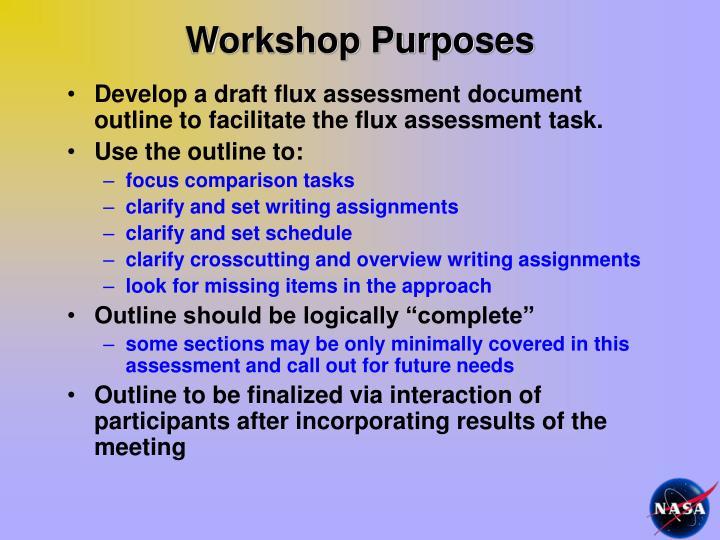 Workshop Purposes