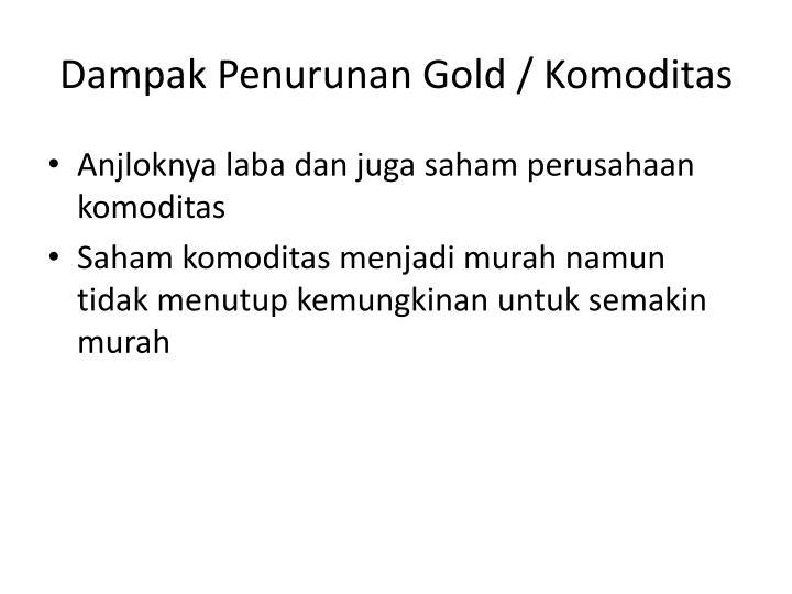 Dampak Penurunan Gold / Komoditas