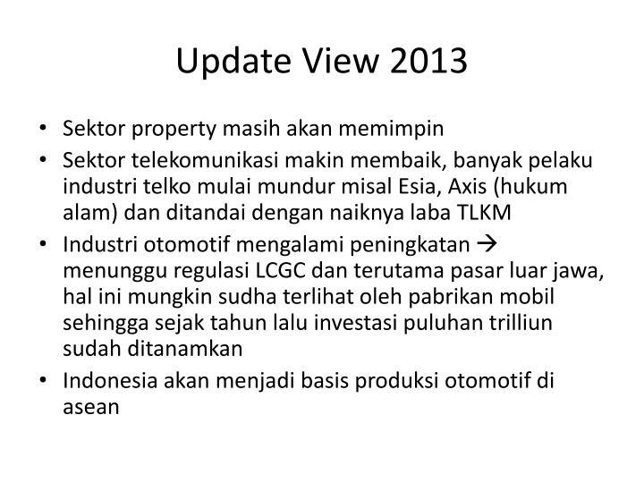 Update View 2013