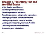 chapter 1 tokenizing text and wordnet basics