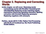 chapter 2 replacing and correcting words