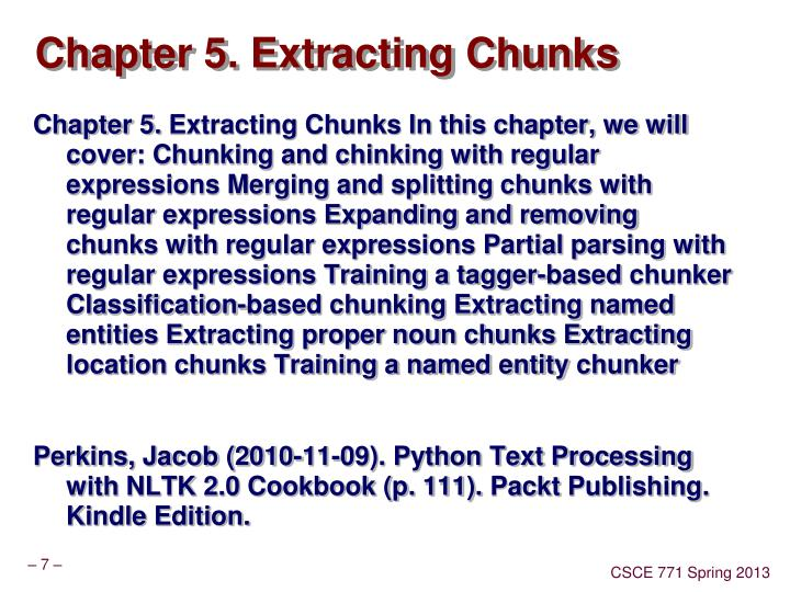 Chapter 5. Extracting Chunks