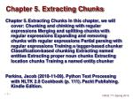 chapter 5 extracting chunks