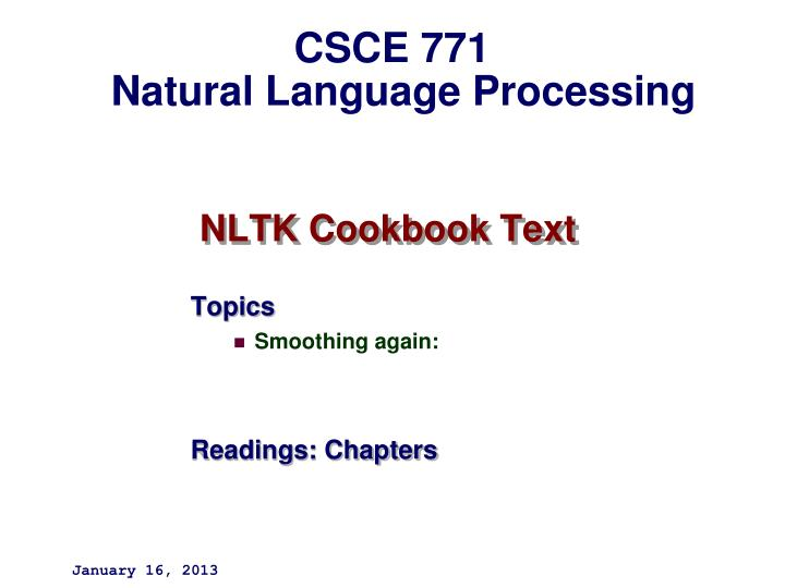 Nltk cookbook text