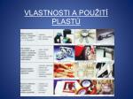 vlastnosti a pou it plast