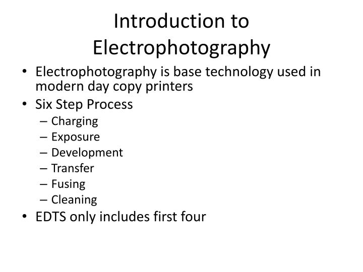 Introduction to Electrophotography