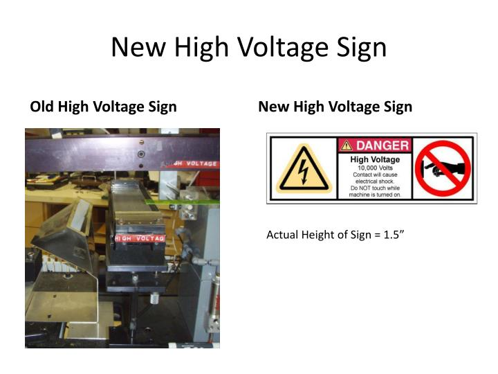 New High Voltage Sign