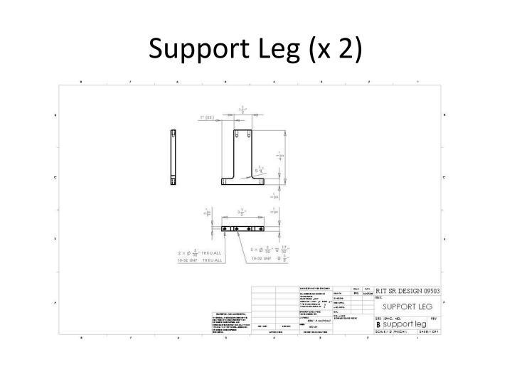 Support Leg (x 2)
