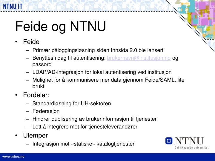 Feide og NTNU