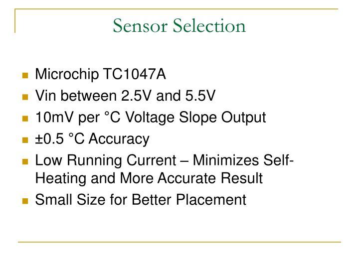 Sensor Selection
