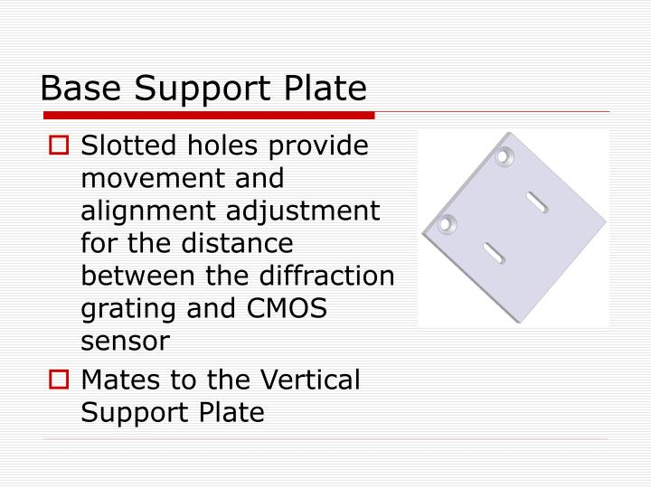 Base Support Plate
