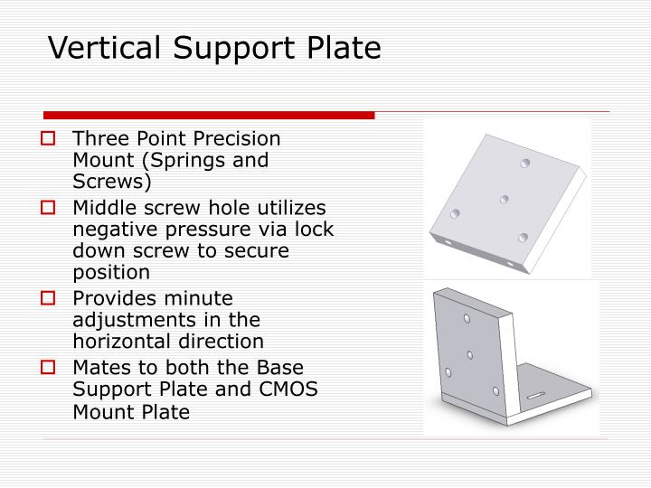 Vertical Support Plate
