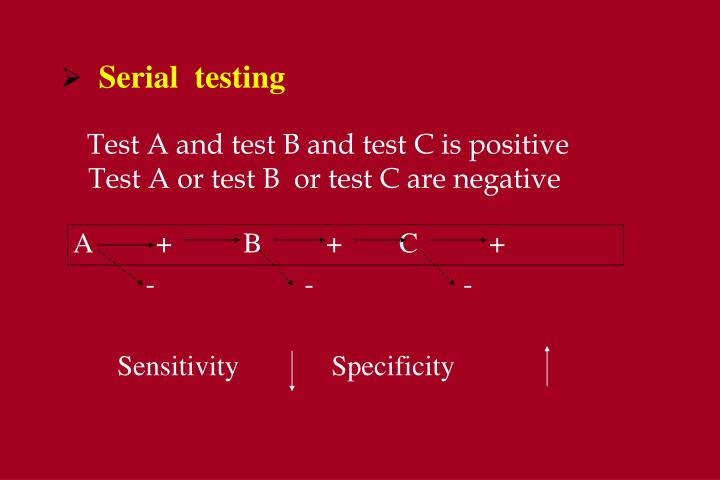 Test A and test B and test C is positive