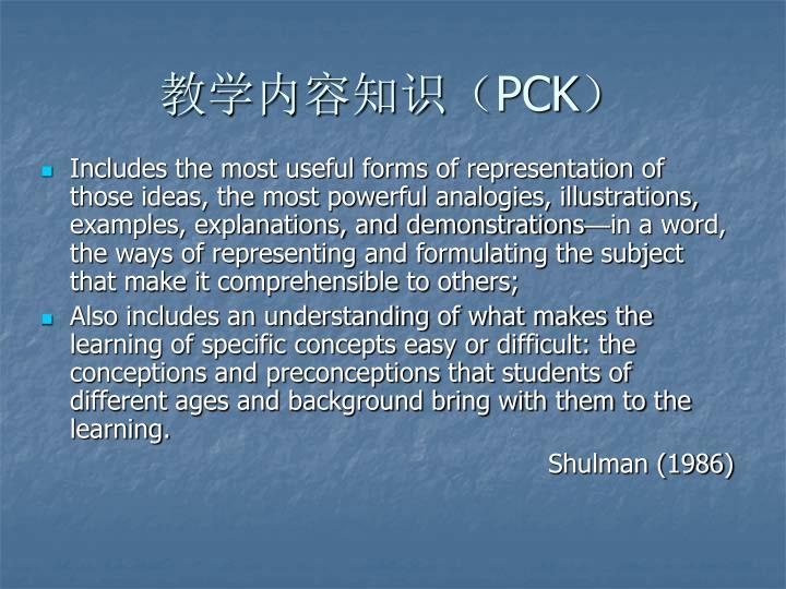 教学内容知识(