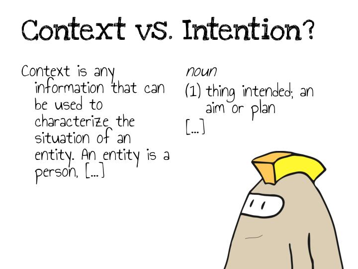 Context vs. Intention?