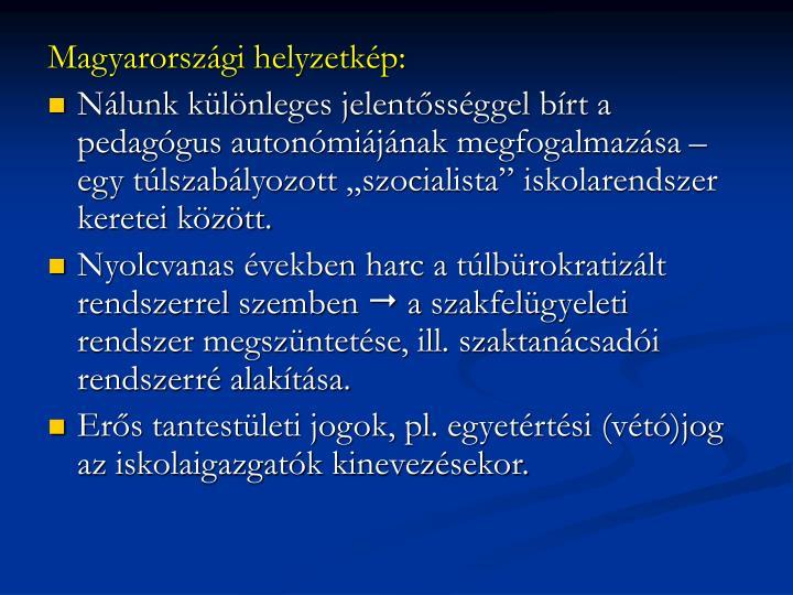 Magyarországi helyzetkép: