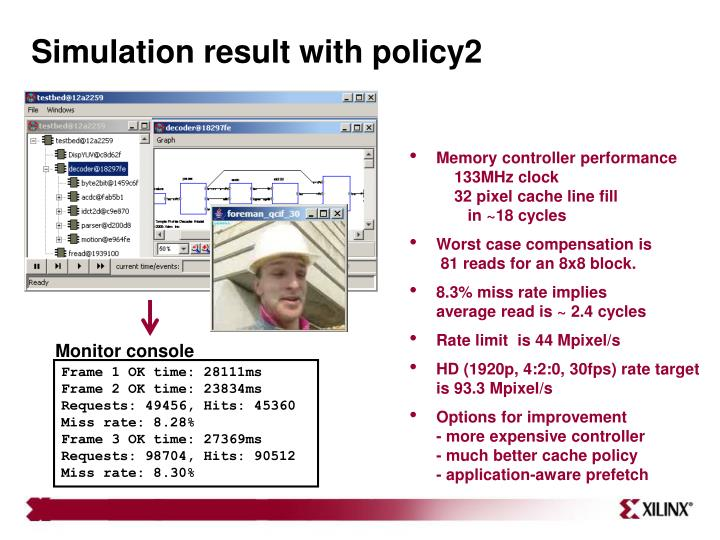 Simulation result with policy2