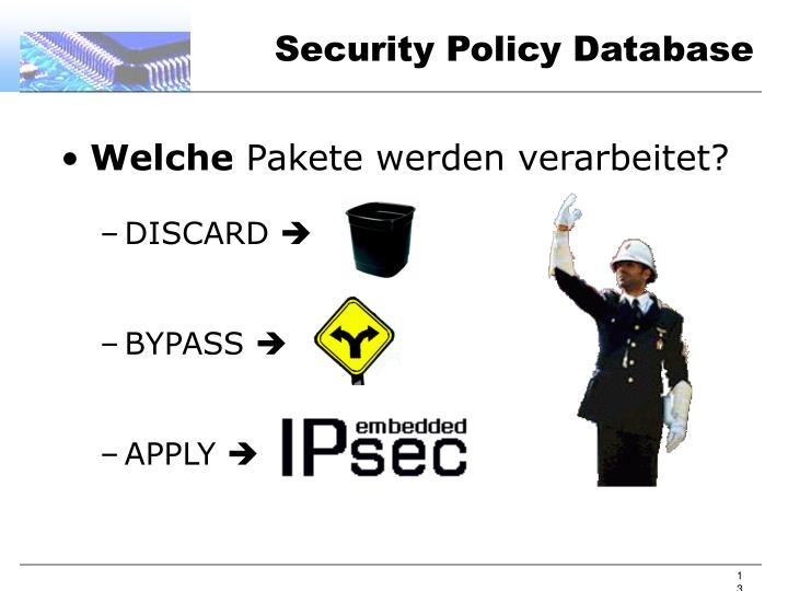 Security Policy Database