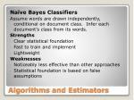 algorithms and estimators