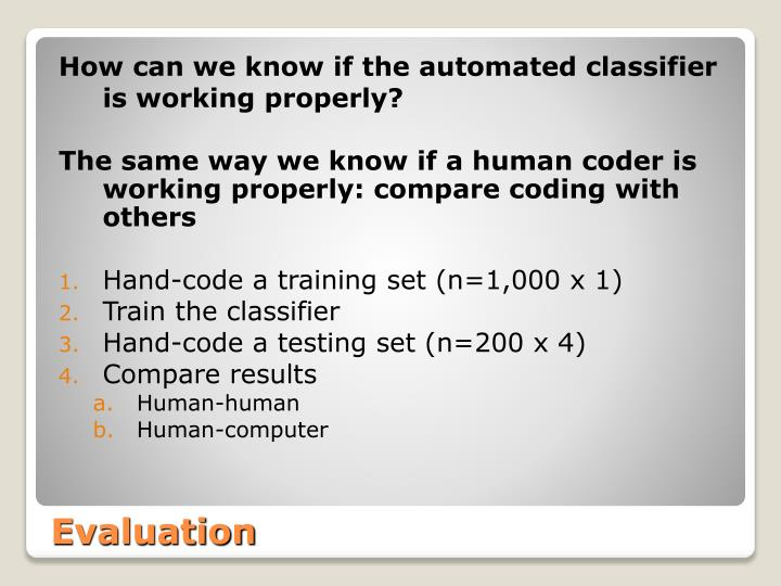 How can we know if the automated classifier