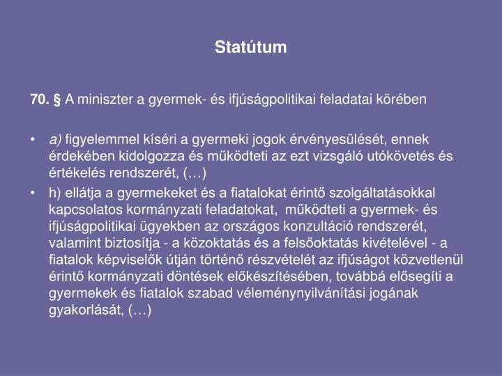 Statútum