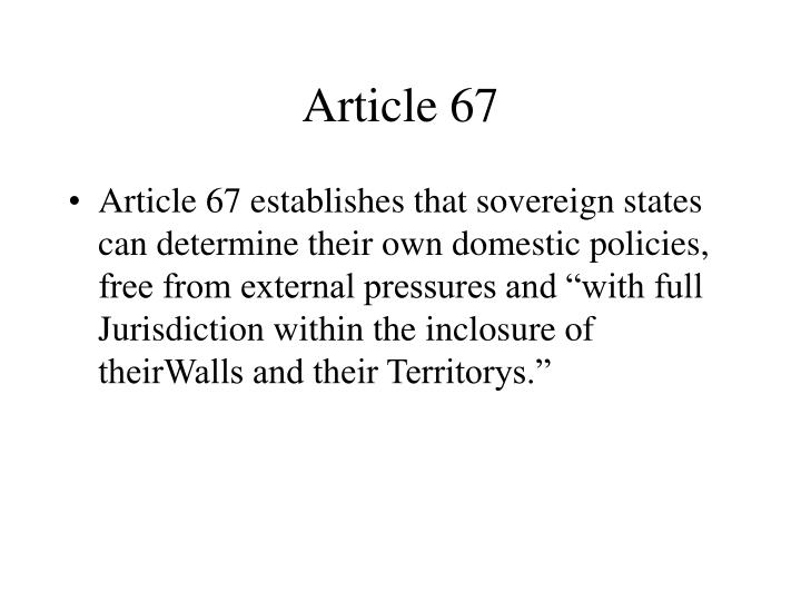 Article 67