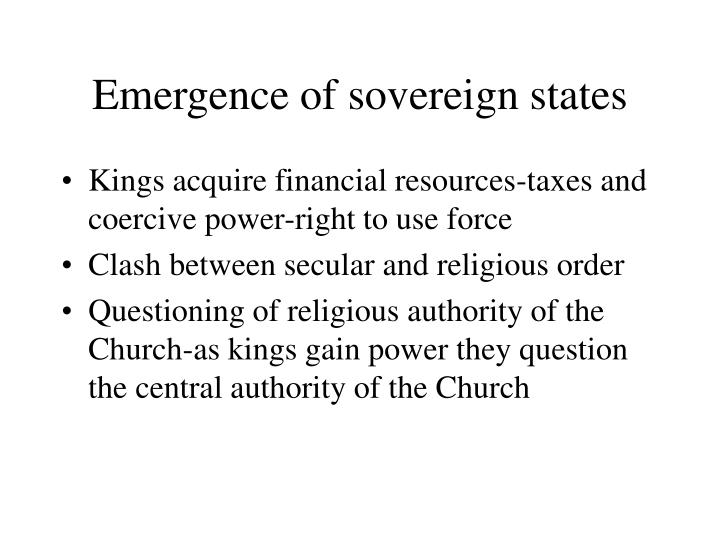 Emergence of sovereign states