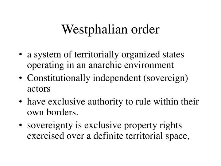 Westphalian order