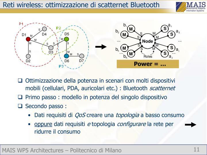 Reti wireless: ottimizzazione di scatternet Bluetooth