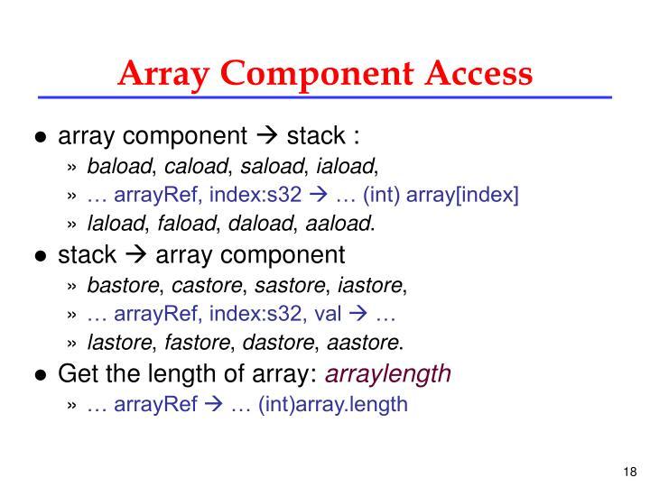 Array Component Access