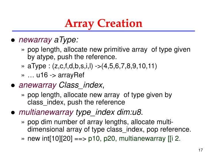 Array Creation