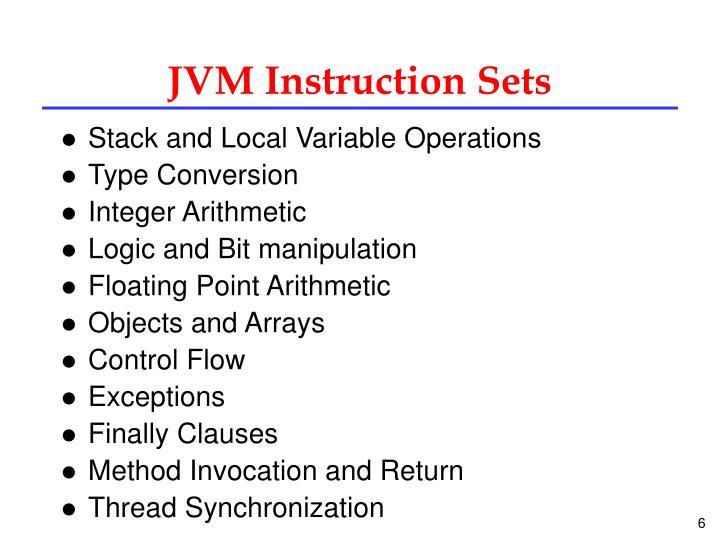 JVM Instruction Sets