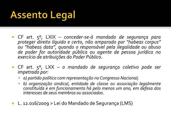 Assento Legal