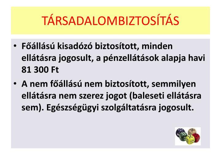 TÁRSADALOMBIZTOSÍTÁS