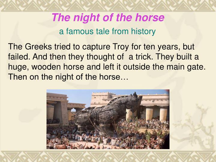 The night of the horse