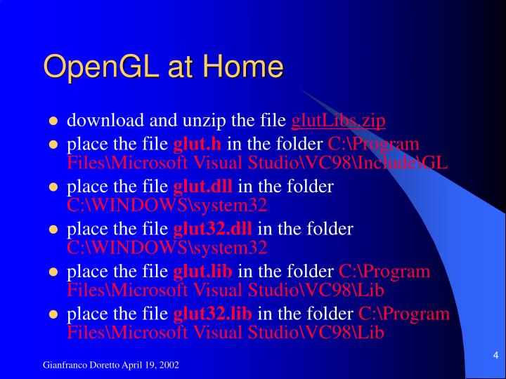 OpenGL at Home