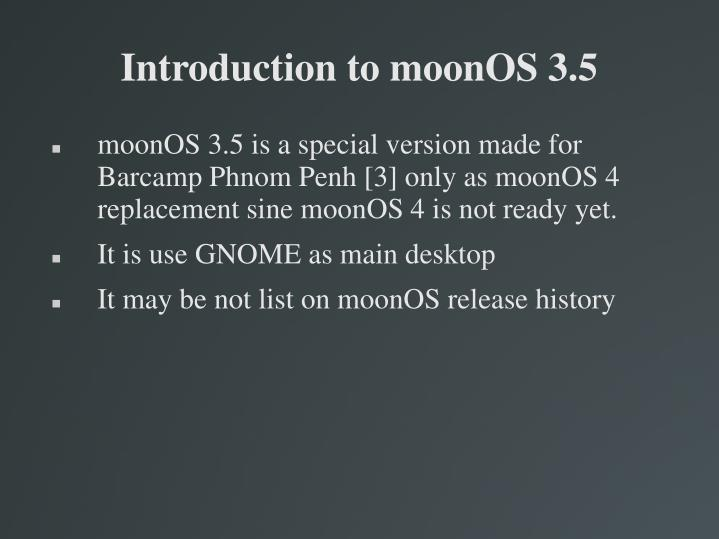 Introduction to moonOS 3.5