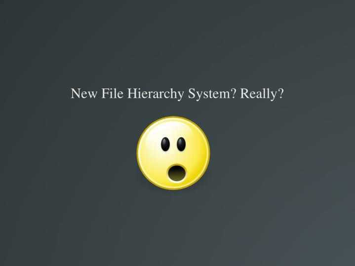 New File Hierarchy System? Really?