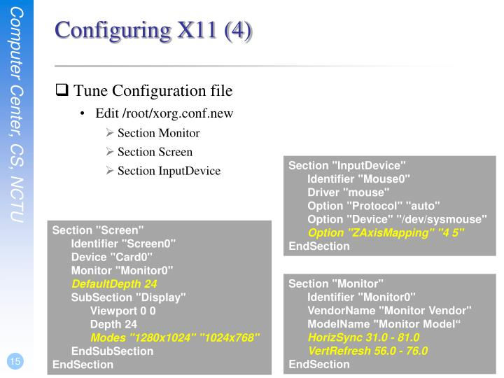 Configuring X11 (4)
