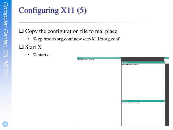 Configuring X11 (5)