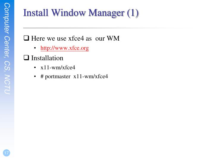 Install Window Manager (1)