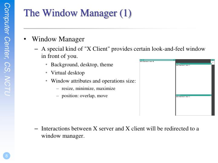 The Window Manager (1)