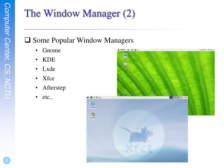 The Window Manager (2)