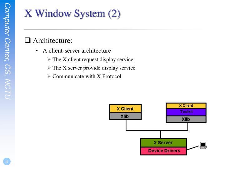 X Window System (2)
